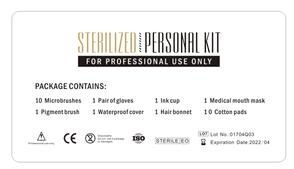 Disposable 7 Piece Sterilised Work Kit Back